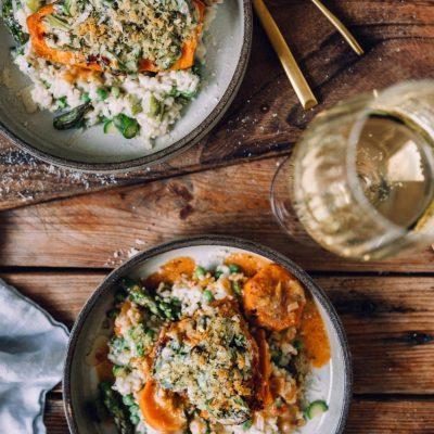 Ofenhähnchen mit Spargel und Frühlingsrisotto: Mein Genussmoment