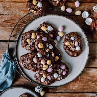 Oster-Brownie-Cookies – schokoladiger Ostergruß